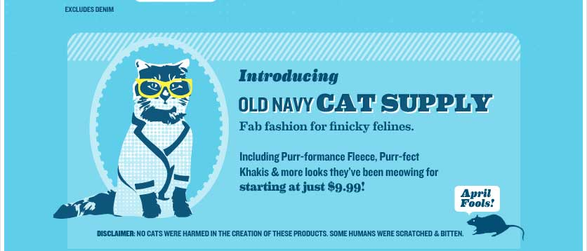 old navy april fool ad